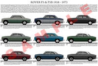 Rover P5 model chart poster