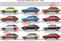 Leyland Princess model chart poster