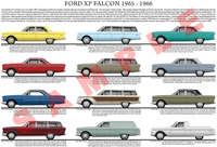 Ford XP Falcon car model chart poster print