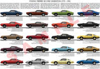 Pontiac Firebird 1970 - 1981 second generation model chart p