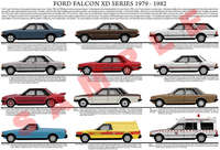 Ford XD Falcon car model chart poster print 1979 - 1982
