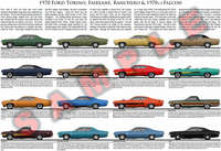 1970 Ford Torino Fairlane Falcon Ranchero model chart poster