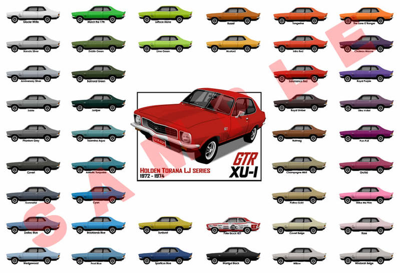 Customised Holden LJ Torana GTR or GTR XU-1 poster