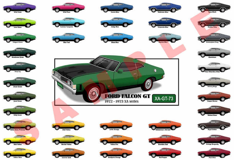 Ford XA Falcon GT hardtop coupe customised poster