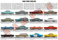 1966 Ford Fairlane model year poster Club Coupe 500 XL GT GT