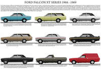 Ford XT Falcon car model chart poster print 1968 - 1969