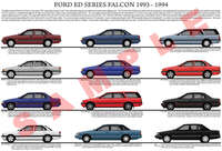 Ford ED series Falcon model chart 1993 - 1994 poster