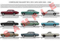 Chrysler SV1 RV1 AP5 AP6 early Valiant model chart poster pr