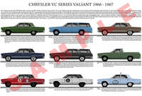 Chrysler VC series Valiant model chart poster print