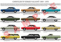 Chrysler VF series Valiant model chart poster