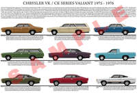 Chrysler VK series Valiant/CK series model chart poster