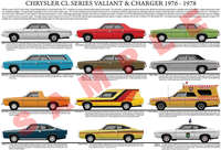 Chrysler CL series Valiant model chart poster