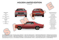 Holden HX LE Coupe 3-Way Customised Poster Print
