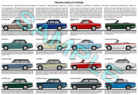 Triumph Herald & Vitesse production history poster print