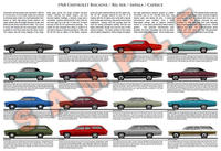 1968 Chevrolet Impala Biscayne Bel Air Caprice model chart p