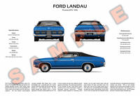 Ford P5 Landau 3-Way Customised Poster Print