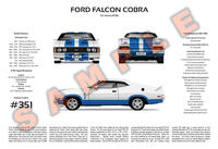 Ford XC Falcon Cobra Hardtop 3-Way Customised Poster Print