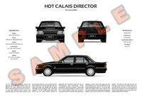 Holden VK Commodore Berlina Calais personalised poster HDT