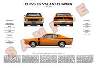 Chrysler VH Valiant Charger 3-Way Customised Poster Print