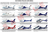Victoria Police Air Wing helicopter poster