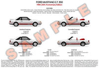 1984 Ford Mustang (Fox) 20th Anniversary GT 350 poster print