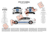 FPV GT Cobra (Ford BF MkII) personalised 3-view poster print