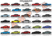 Holden History Poster Print Part 2 - Modern / Commodore era