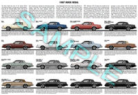 1987 MY Buick Regal Poster Print - Grand National GNX WE4