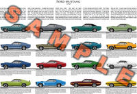 1969 Ford Mustang model year poster Grande GT Mach 1 Boss 3