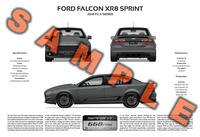 Ford FG X Falcon XR6 XR8 Sprint personalised 3-view poster