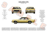 Holden HZ GTS 3-Way Personalised Poster Print
