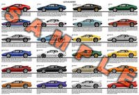 Lotus Esprit production history poster S1 S2 S3 S4 V8 Turbo